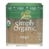 Sage Leaf - Organic - Ground - .21 oz.. - Case of 6