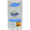 Tom's of Maine Natural Long-Lasting Deodorant Stick Apricot - 2.25 oz - Case of 6 HGR 0585596