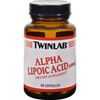 Vitamins OTC Meds Antioxidants: Twinlab - Alpha Lipoic Acid - 100 mg - 60 Capsules