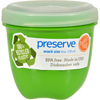 plastic containers: Preserve - Mini Food Storage Container - Apple Green - Case of 12 - 8 oz