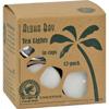 Aloha Bay Palm Wax Tea Lights with Aluminum Holder - 12 Candles HGR 0625624