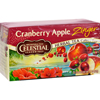 Celestial Seasonings Herbal Tea Caffeine Free Cranberry Apple Zinger - 20 Tea Bags - Case of 6 HGR 0630244