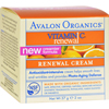 Creams Ointments Lotions Lotions: Avalon - Organics Renewal Facial Cream Vitamin C - 2 oz