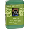 soaps and hand sanitizers: One With Nature - Dead Sea Mineral Olive Oil Soap - 7 oz
