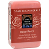 soaps and hand sanitizers: One With Nature - Dead Sea Mineral Rose Petal Soap - 7 oz