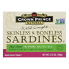 Skinless and Boneless Sardines In Pure Olive Oil - Case of 12 - 3.75 oz..