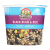Dr. Mcdougall's Vegan Black Bean and Rice Lower Sodium Soup Cup - Case of 6 - 1.6 oz.. HGR 0660704