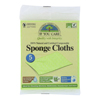cleaning chemicals, brushes, hand wipers, sponges, squeegees: If You Care - Sponge Cloths - 100 Percent Natural - 5 Count - Case of 12