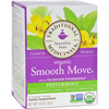 Organic Smooth Move Peppermint Herbal Tea - 16 Tea Bags - Case of 6