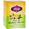 Green Slim Life Herbal Tea Blueberry - 16 Tea Bags - Case of 6