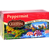 Celestial Seasonings Herbal Tea - Peppermint - Caffeine Free - 20 Bags HGR 721043