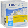Natracare Natural Ultra Pads Organic Cotton Cover - Super - 12 Pack HGR 0735654