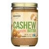 Natural Cashew Butter - Unsalted - Case of 12 - 16 oz..