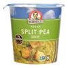 Dr. Mcdougall's Vegan Split Pea and Barley Soup Big Cup - Case of 6 - 2.5 oz.. HGR 0746859