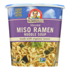Dr. Mcdougall's Vegan Miso Ramen Soup Big Cup with Noodles - Case of 6 - 1.9 oz.. HGR 0756841