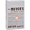 Mrs. Meyer's Dryer Sheets - Lavender - Case of 12 - 80 Sheets HGR 764506