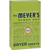 Mrs. Meyer's Dryer Sheets - Lemon Verbena - Case of 12 - 80 Sheets HGR 764522