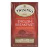 Twinings Tea English Breakfast Tea - Black Tea - Case of 6 - 20 Bags HGR 0770859
