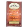 Twinings Tea Black Tea - Ceylon Orange Pekoe - Case of 6 - 20 Bags HGR 0771014