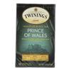 Twinings Tea Black Tea - Prince of Wales - Case of 6 - 20 Bags HGR 0771030