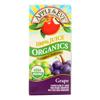 Apple and Eve Organics 100 Percent Juice - Grape - Case of 9 - 200 ml HGR 0772913