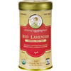 Clean and Green: Zhena's Gypsy Tea - Red Lavender Herbal Tea - Caffeine Free - Case of 6 - 22 Bags