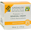 Creams Ointments Lotions Lotions: Andalou Naturals - Renewal Cream Brightening Probiotic plus C - 1.7 fl oz