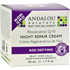 Creams Ointments Lotions Lotions: Andalou Naturals - Resveratrol Q10 Night Repair Cream - 1.7 fl oz