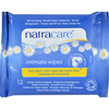 Natracare Organic Cotton Intimate Wipes - 12 Wipes - Case of 12 HGR 0799015