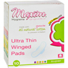 Maxim Hygiene Products Maxim Hygiene Natural Cotton Ultra Thin Winged Pads Overnight - 10 Pads HGR 0799783