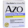 Azo Standard Urinary Pain Relief - 30 Tablets HGR 0810036