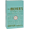 Mrs. Meyer's Dryer Sheets - Basil - Case of 12 - 80 Sheets HGR 817189