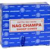 Sai Baba Nag Champa Incense Cone - Case of 12 - 12 Packs HGR 0821181