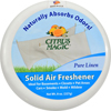 Deodorizers: Citrus Magic - Solid Air Freshener - Pure Linen - Case of 6 - 8 oz