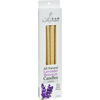 Wally's Natural Products Beeswax Candles - Lavender - 4 Pack HGR 0835207
