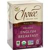 Choice Organic Teas Teas English Breakfast Tea - 16 Tea Bags - Case of 6 HGR 0848572