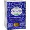 Organic Tea Classic Breakfast - 25 Tea Bags - Case of 6