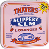 cough drops: Thayers - Slippery Elm Lozenges Cherry - 42 Lozenges - Case of 10