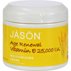 Jason Natural Products Moisturizing Creme Vitamin E Age Renewal Fragrance Free - 25000 IU - 4 oz HGR 0935007