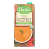 Organic Roasted - Red Pepper and Tomato Soup Light In Sodium - Case of 12 - 32 Fl oz..