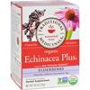 Traditional Medicinals Organic Echinacea Elder Tea -Caffeine Free - Case of 6 - 16 Bags HGR 951558