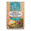 Eden Foods Great Northern Beans Organic - Case of 12 - 15 oz. HGR 0959726