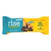 Rise Bar Protein Bar - Crunchy Carob Chip - Case of 12 - 2.1 oz. HGR 1067677