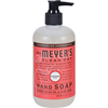 soaps and hand sanitizers: Mrs. Meyer's - Liquid Hand Soap - Rhubarb - 12.5 fl oz - Case of 6
