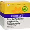 Clean and Green: Derma E - Evenly Radiant Night Creme - 2 oz