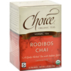 Choice Organic Teas Herbal Tea Rooibos Chai - Caffeine Free - Case of 6 - 16 Bags HGR 1113166