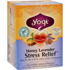 Yogi Teas Stress ReliefHerbal Tea Caffeine Free Honey Lavender - 16 Tea Bags - Case of 6 HGR 1118850