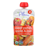 Plum Organics Baby Food - Organic -Sweet Potato Corn and Apple - Stage 2 - 6 Months and Up - 3.5 .oz - Case of 6 HGR 1144591