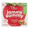 Plum Organics Jammy Sammy Snacks - Strawberry Jam and Peanut Butter - Case of 6 - 1.03 oz.. HGR 1146695