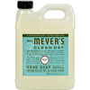 soaps and hand sanitizers: Mrs. Meyer's - Liquid Hand Soap Refill - Basil - 33 lf oz - Case of 6